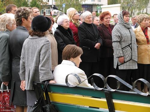 23 сентября 2010, Рославль, открытие мемориальной доски Э.Г. Репину, митинг