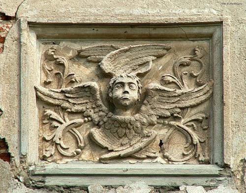 Лепнина. Ангел. Троицкая церковь в с. Кой (2006).