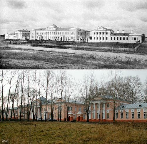 Фабричная больница села Бонячки (1912) - ЦРБ г. Вичуги (2008)