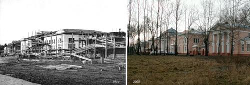 Строительство фабричной больницы в с. Бонячки (1911) - ЦРБ г. Вичуги (2008)