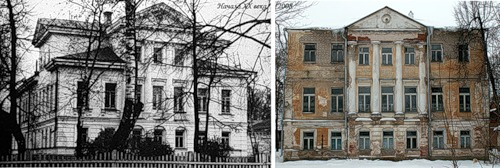 Дом фабриканта Д.Ф. Морокина в с. Новой Гольчихе (начало XX в.?) - Инфекционная больница г. Вичуги (2008)