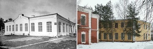 Школа (младшее отделение) при фабриках в Бонячках (1912) - Школа №9 г. Вичуги (2008)