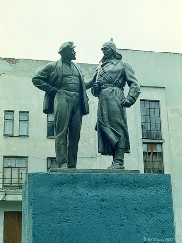 Ленин с красноармейцем в Новописцово
