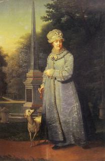 На фоне Кагульского обелиска, 1800-1810