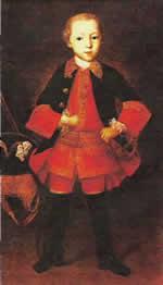 И. Вишняков. Портрет князя Ф. Н. Голицына в детстве.