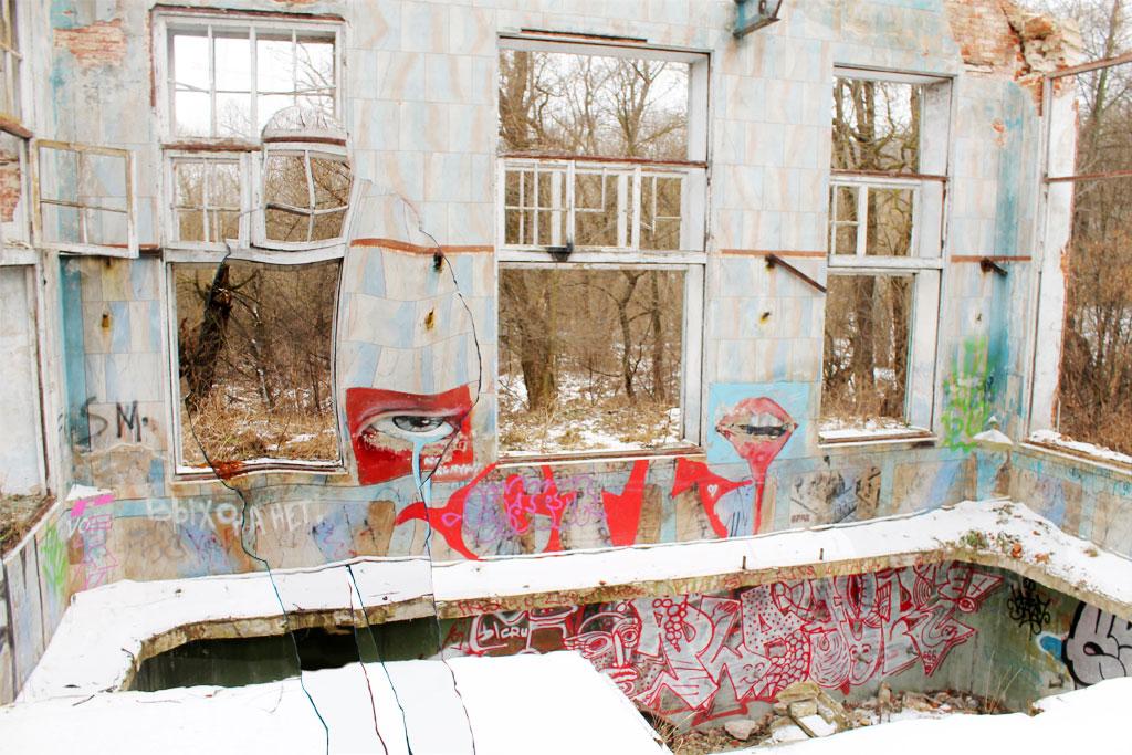 Развалины калужской водокачки. Ухарь