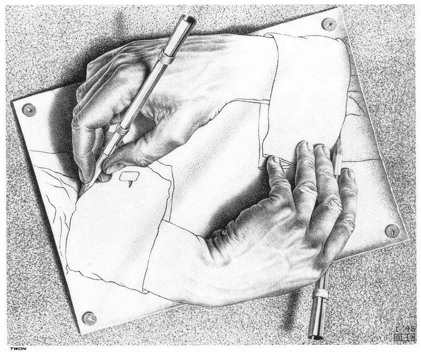 Изобразил рисующие руки сканворд