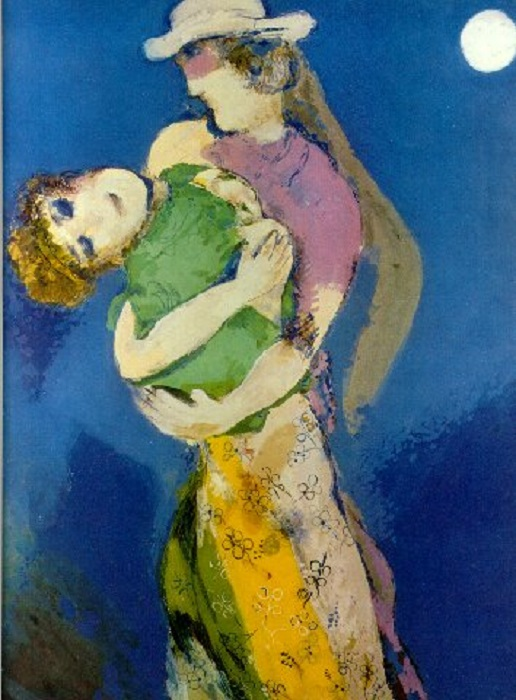 c7ede0687e37d52f1f78b3cb3f0f0d4d_Marc Chagall (1887-1985) Lovers in the Moonlight