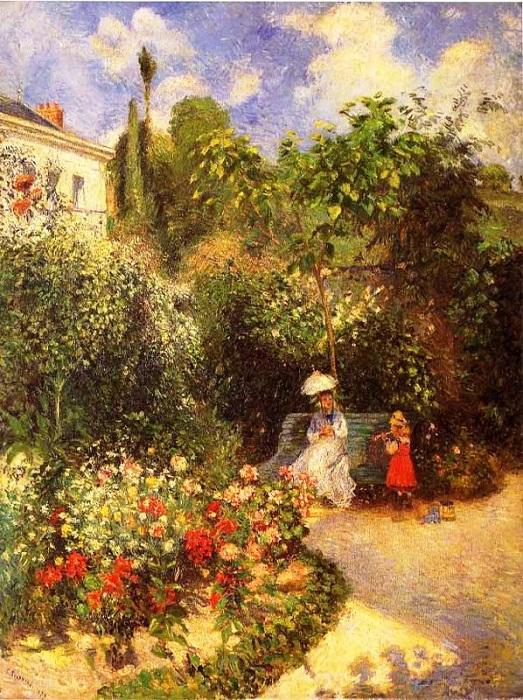 e25b6033e9c105f630dfbf18c5e7de38_Pissarro.gardenatpont.750pix.jpg Камиль Писсарро