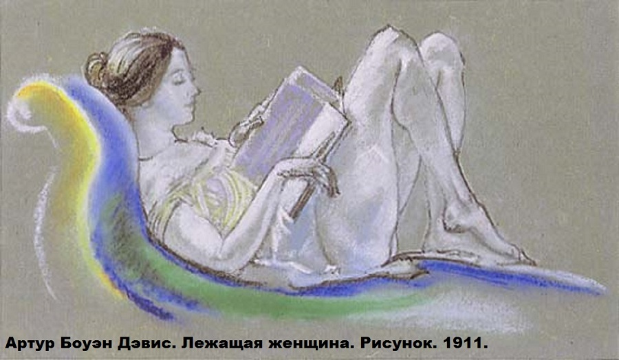 Arthur_B._Davies_-_Reclining_Woman_(Drawing),_1911