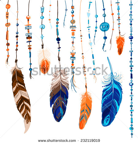 stock-vector-set-of-ethnic-feathers-ethnic-seamless-pattern-in-native-style-232119019
