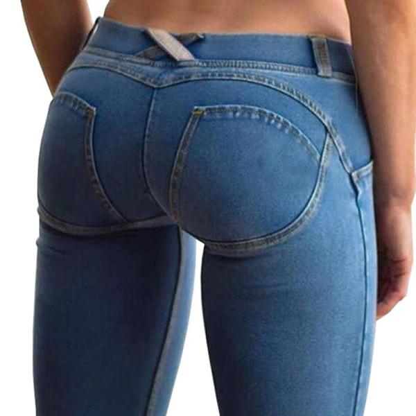 -Ladies-Sexy-Slim-Bodybuilding-Pants-Plus-Size-Push-Up-Leggings-Denim-Jeanswear-pantalon-femmes-Low