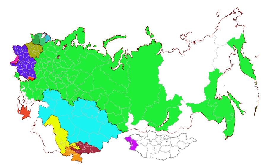Карта регионов экс-СССР