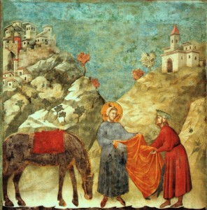 """""""Il-dono-del-mantello""""-Giotto-1295-1299-San-Francesco-dAssisi-Basilica-Superiore"""