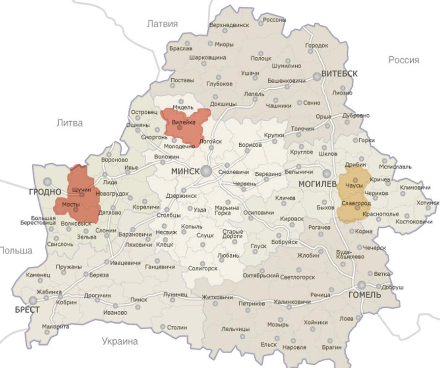Мапа экспедыцый 2014