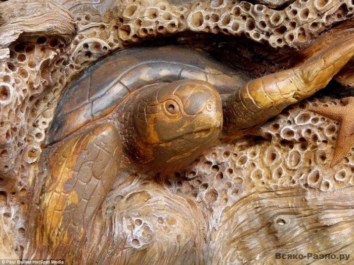 Удивительная деревянная скульптура