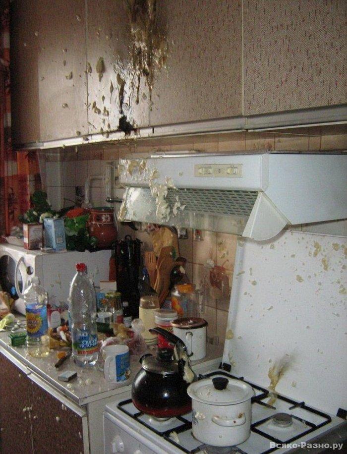 На кухне рванула монтажная пена