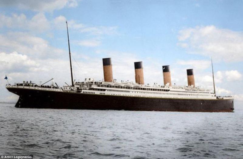 Титаник в цвете