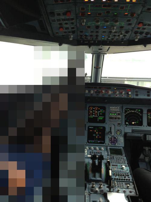 Вид в кабине пилота