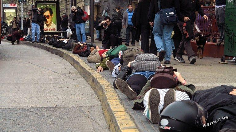 Лежачий протест в Чили