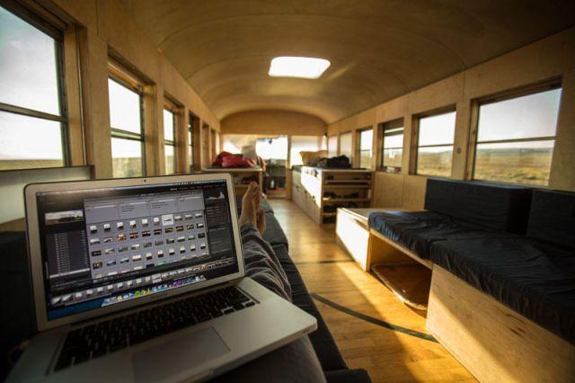 Мобильный дом на базе автобуса