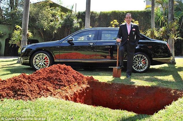 Бразильский миллионер закопает свой Bentley, чтобы ездить на нем после смерти