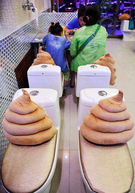 В Китае открылось самое дерьмовое семейное кафе