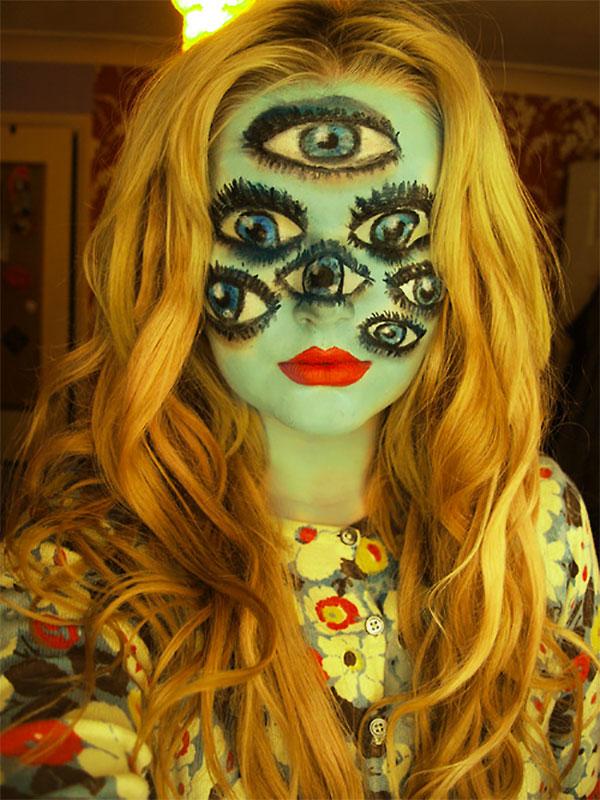 Идеи пугающего макияжа на Хэллоуин 2013