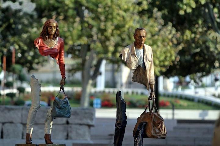 Пустые люди. Скульптуры Бруно Каталано