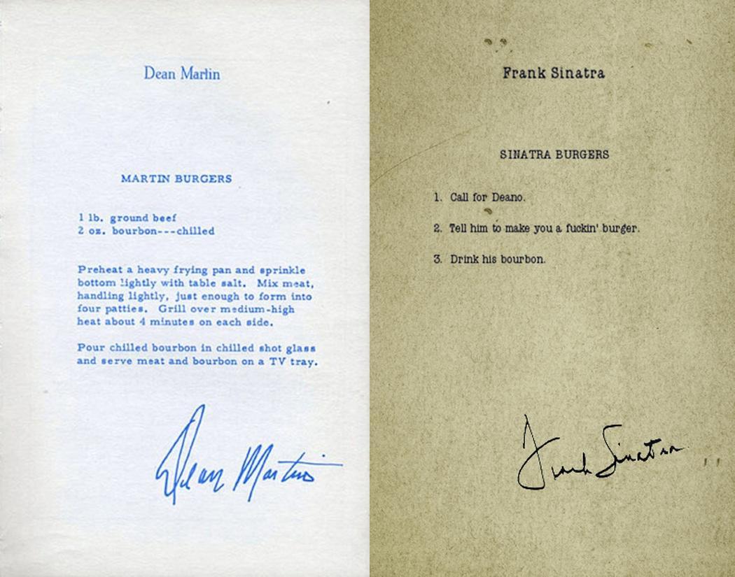 Дин Мартин и Фрэнк Синатра делятся рецептом идеального гамбургера