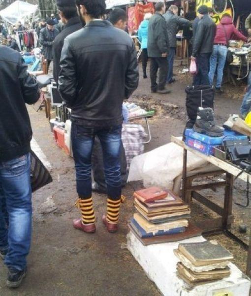 Модные кавказские парни начали носить полосатые гетры