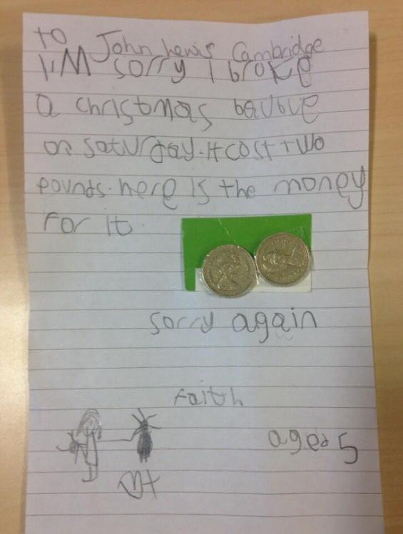Ребёнок заплатил за разбитую игрушку