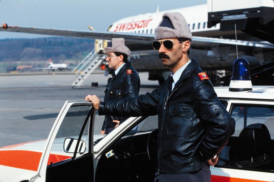 Полиция аэропорта (1985 год). Архив Swissair