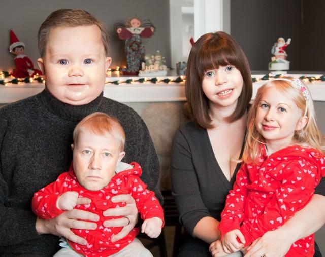 Жена хотела семейное фото на рождество