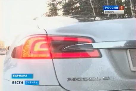 Электромобиль Tesla Model S и суровая русская зима