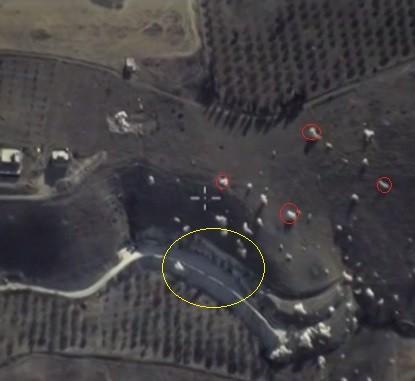 Про точечные бомбардировки российскими ВВС в Сирии