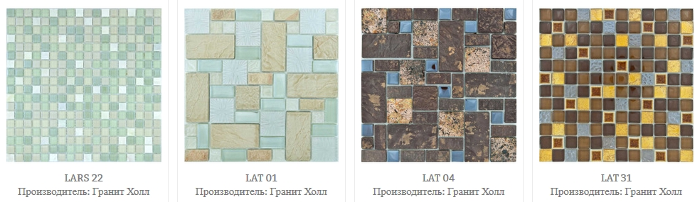 Мозаика камень и стекло