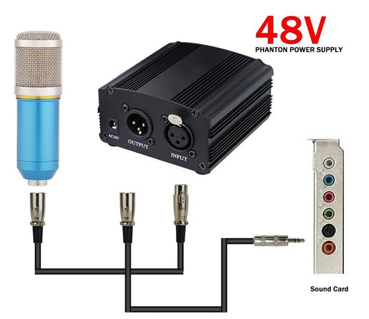 Блок фантомного питания на 48 вольт для конденсаторного микрофона