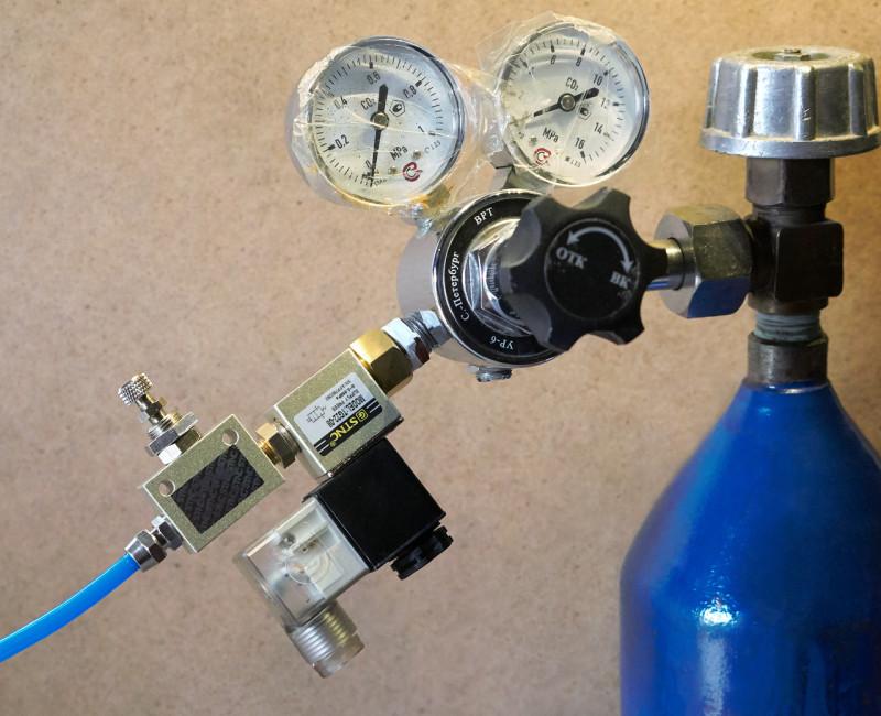 Электромагнитный клапан соленоид пневмодроссель игольчатый клапан CO2