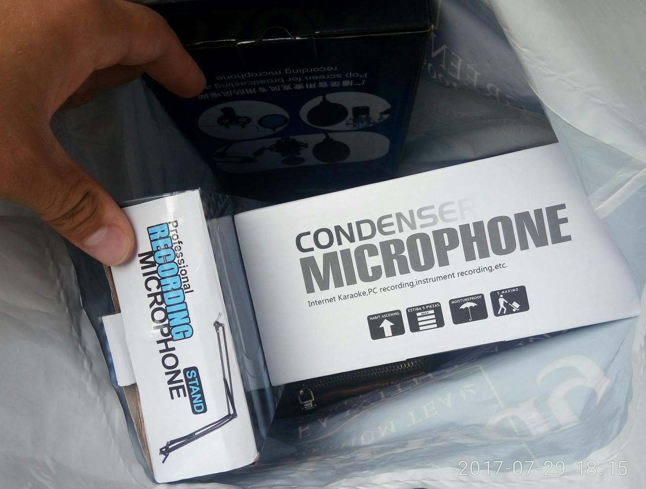 Микрофон BM-800 c пауком и кабелем Поп-фильтр Стойка