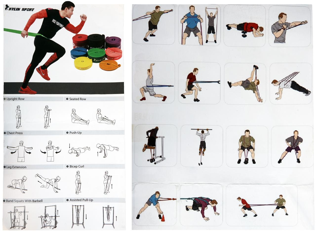 Резиновые петли для фитнеса, спорта, турника. Комплект и поштучно