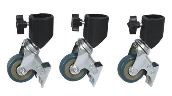 Колёса для стоек универсальные поворотные в фотостудию