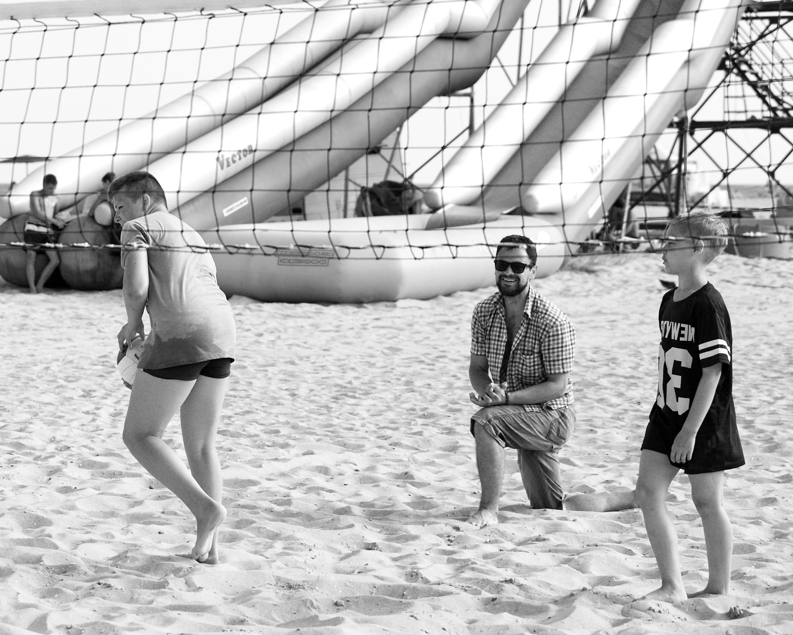 пляжный волейбол с белорусскими ребятами