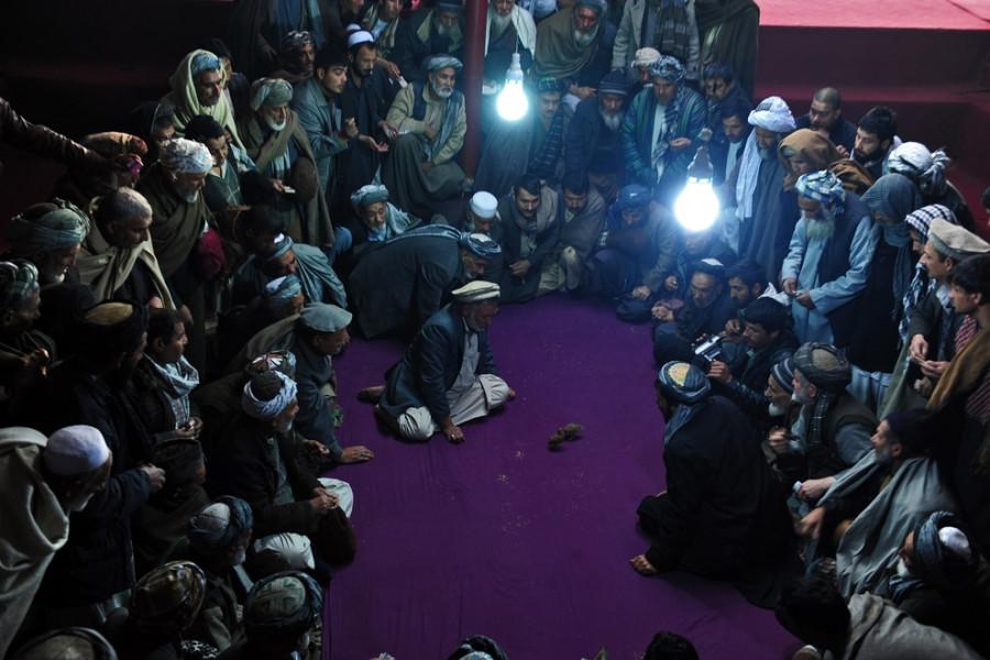 Перепелиные бои, Мазари-Шариф, Афганистан