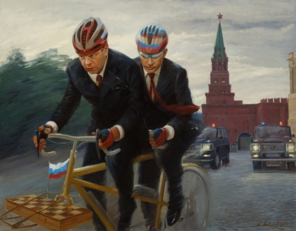 Серия политических картин современного русского художника Александра Акопова