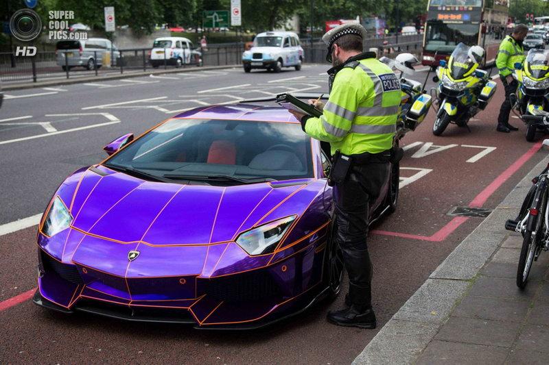 Сияющий пурпурный нарушитель