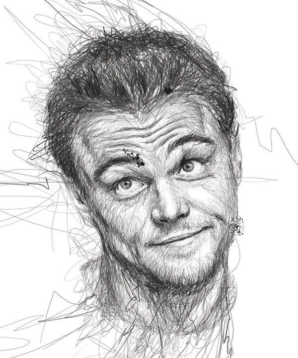 Винс Лоу создает портреты знаменитостей, расписывая авторучку