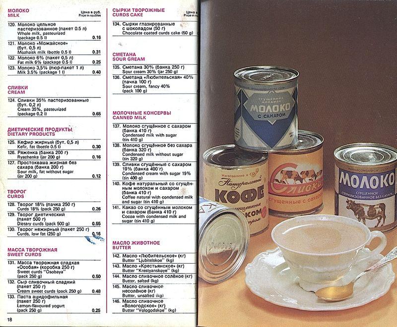 Прейскурант на продовольственные товары 1983-0010
