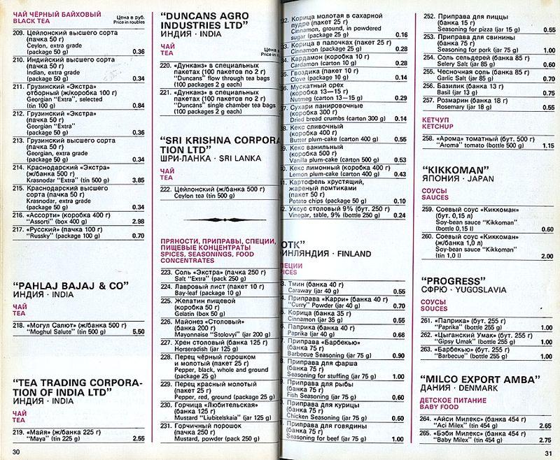 Прейскурант на продовольственные товары 1983-0016