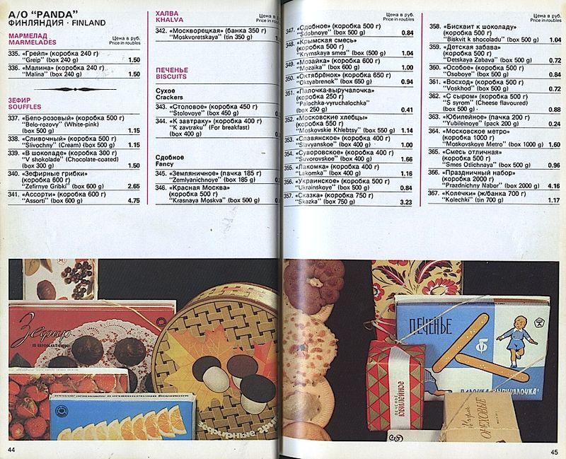 Прейскурант на продовольственные товары 1983-0021